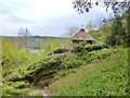 SW8338 : Thatched hut on the Trelissick Estate by Derek Voller