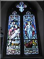 SU9272 : St Peter, Cranbourne: stained glass window (J) by Basher Eyre