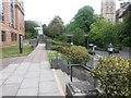 SZ0891 : Bournemouth: footpath B06 alongside Braidley Road by Chris Downer