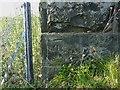 NO3700 : OS benchmark - Aberhill, bridge over former railway by Richard Law