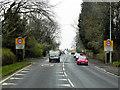 SJ6071 : A49 Entering Cuddington by David Dixon