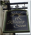 SD6831 : Sign for the Rising Sun public house, Wilpshire by JThomas
