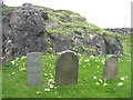NG0483 : MacLeod gravestones at Rodel by M J Richardson