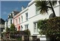 SW8432 : Houses on Lower Castle Road, St Mawes by Derek Harper