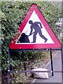 SK4246 : UK Temporary Road Work Sign by Gary