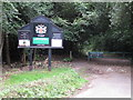 SU9585 : Burnham Beeches information board by Dukes Drive by David Hawgood