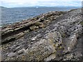 NR9351 : Kinnesswood Formation outcrop by Jonathan Wilkins