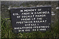SH6742 : Plaque to  memory of Colonel Andrew Campbell by Arthur C Harris