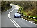 SO0455 : A483 at Brynsadwrn Bridge by David Dixon