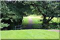ST1796 : Footpath into Memorial Park Meadows, Pontllanfraith by M J Roscoe