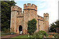 SS9943 : Dunster Castle gatehouse by Richard Croft