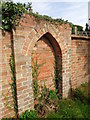 SO9545 : Bricked up gateway from footpath by Jeff Gogarty