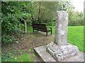 SY8997 : Ancient cross in Winterborne Zelston by Becky Williamson