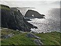 HU3532 : Stack of Sandwick, Burra, Shetland  by Julian Paren