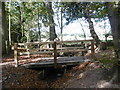 TQ2493 : Footbridge over a tributary of the Folly Brook by Marathon
