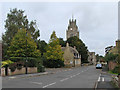 TL4478 : Sutton High Street and St Andrew's Church by John Sutton