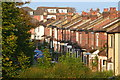 SU3912 : Houses in Foundry Lane seen from Millbrook station footbridge by David Martin