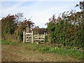 SP5732 : Gate and stile at Juniper Hill by Jonathan Thacker