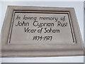TL5973 : St Andrew, Soham: memorial (viii) by Basher Eyre