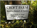 TL1614 : Croft Farm sign by Adrian Cable