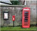 SJ5055 : Elizabeth II postbox and telephone box, Harthill by JThomas