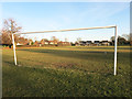 SU8496 : Football Pitch, Naphill by Des Blenkinsopp