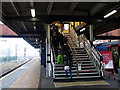 SE5951 : Staircase at York Station by John Lucas