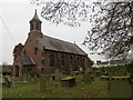 SJ4555 : The Church of St Mary at Coddington by Peter Wood