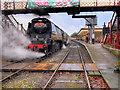 SD7916 : Santa Special, City of Wells at Ramsbottom by David Dixon