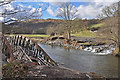 NY2924 : Former railway bridge destroyed in 2015 Storm Desmond by John Carter