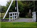 SJ5948 : Wrenbury Church Lift Bridge in Cheshire by Roger  Kidd