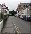 """SN1300 : Warning sign - 14' 9"""" headroom ahead, Park Road, Tenby by Jaggery"""