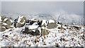 NY4108 : Snowed rocks above Hart Crag : Week 5