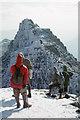 NH0683 : Contemplating the climb of Lord Berkeley's Seat on the An Teallach ridge by Julian Paren