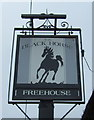 TL4268 : Sign for the Black Horse, Rampton by JThomas