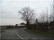 TL0046 : Hall End Road at the junction of Keeley Lane by David Howard