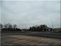 TL0446 : Roundabout on the A6, Wixams by David Howard