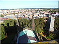 SJ4066 : View looking East from the tower of Chester Cathedral by David Hillas