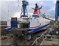 J3676 : 'Stena Superfast VII' in dry dock, Belfast by Rossographer