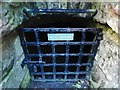 NS3974 : Dumbarton Castle: entrance to the well-house by Lairich Rig