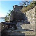 NS3974 : Dumbarton Castle: area west of the Governor's House by Lairich Rig