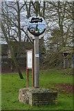 TL3758 : Hardwick Village sign by N Chadwick