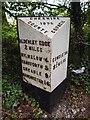SJ8475 : Old Milepost by J Higgins