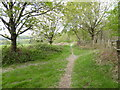 TQ3233 : Footpath between Back Lane and Worth Abbey and School by Shazz