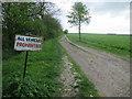 TL3653 : Bridleway from Little Eversden by Hugh Venables