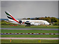 SJ8184 : Airbus A380 at Manchester Airport by David Dixon