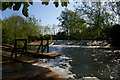 SP5207 : River Cherwell: weir at Parson's Pleasure by Christopher Hilton