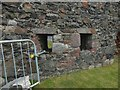 NS4074 : Dumbarton Castle: window of an earlier Magazine by Lairich Rig