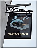 SX4555 : Queens Dock sign by N Chadwick