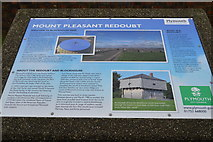 SX4555 : Mount Pleasant Redoubt - information board by N Chadwick